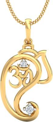 JewelsNext Faith 18kt Diamond Yellow Gold Pendant
