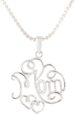 Swasti Jewels Mom And Kid Eternal Love Gift Collection Rhodium Cubic Zirconia, Zircon Metal Pendant  available at flipkart for Rs.1350