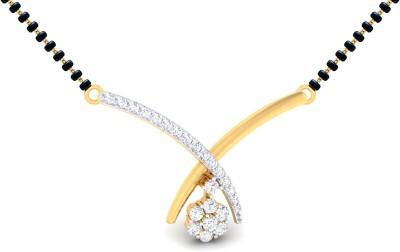 Ornomart dancing drop 14K Yellow Gold Diamond Metal Pendant