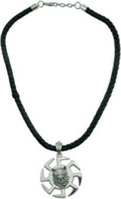 Alpha Man Mark Of The Alpha Wolf Stainless Steel, Leather Pendant at flipkart