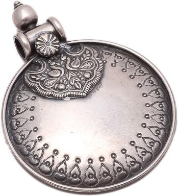 The Marketvilla Laxmi Mata Ambe Maa Durga Ma Mahalaxmi Gold Plated God Mataji Devi Locket Diwali Gift Rhodium Cubic Zirconia Silver, Sterling Silver Pendant
