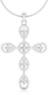 IskiUski Elegants 14kt Swarovski Crystal White Gold Pendant(White Gold Plated) at flipkart