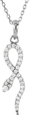 Kiara Jewellery Ballet Dancer Rhodium Swarovski Crystal Sterling Silver Pendant