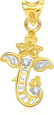 VK Jewels Om 18K Yellow Gold Cubic Zirconia Alloy Pendant