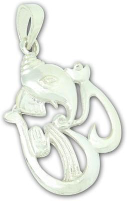 Frabjous Lord Ganesha OM Designer German Silver Alloy Pendant