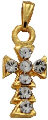 Rich & Famous Elegant Gold Jesus Christ Cross Alloy Pendant at flipkart