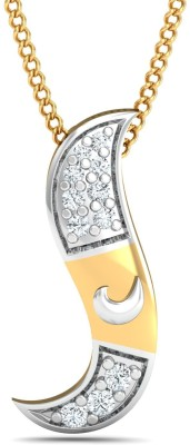 P.N.Gadgil Jewellers 18kt Diamond Yellow Gold Pendant(Yellow Gold Plated) at flipkart