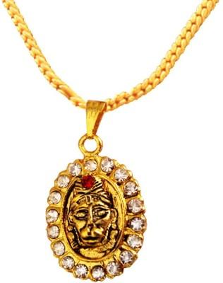Rich & Famous Elegant Gold Plated With Stone Studded Hanuman Bajrang bali Gold-plated Alloy Pendant at flipkart