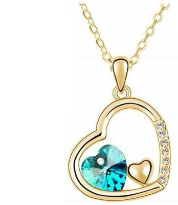 University Trendz UNIV_P149 18K Yellow Gold Crystal Alloy Pendant