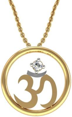 avsar 14kt Swarovski Crystal Yellow Gold Pendant avsar Pendants   Lockets