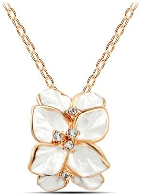 University Trendz Univ_001 18K Rose Gold Crystal Alloy Pendant