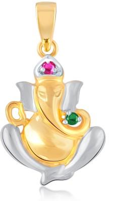 VK Jewels Ganesh Murti Yellow Gold Cubic Zirconia Alloy Pendant