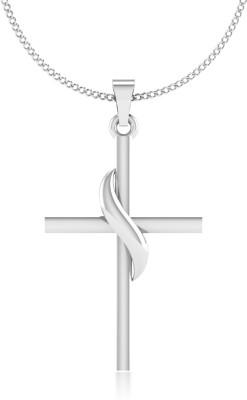 IskiUski Cross 14kt White Gold Pendant IskiUski Pendants   Lockets