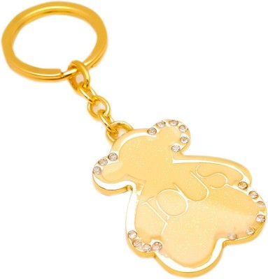 sanaa creations MULTI USE OF CREAM COLOUR IOUS TEDDY SHAPE KEYCHAIN/PENDANT Alloy at flipkart