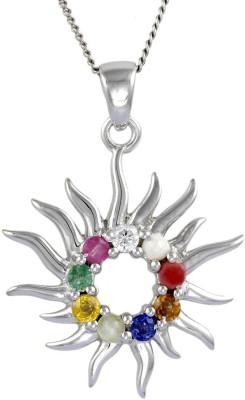 Exxotic Jewelz Sun Rhodium Ruby, Sapphire, Emerald, Pearl, Cat