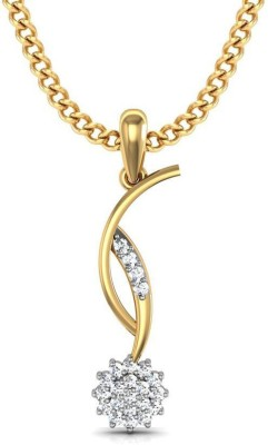 Avsar Kavya 18kt Diamond Yellow Gold Pendant Avsar Pendants   Lockets