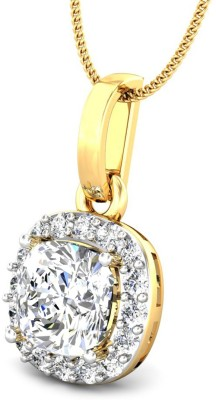 Samaira Gem and Jewelery Solitaire 14kt Swarovski Zirconia Yellow Gold Pendant Samaira Gem and Jewelery Pendants   Lockets