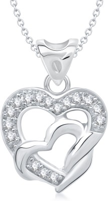 VK Jewels Attractive Design Heart Shape Gold-plated Cubic Zirconia Alloy Pendant