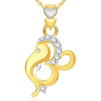 VK Jewels Shambhavi 18K Yellow Gold Cubic Zirconia Alloy Pendant