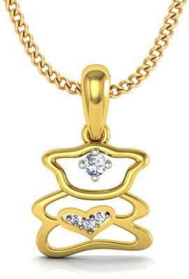 Avsar 14kt Swarovski Crystal Yellow Gold Pendant Avsar Precious Jewellery
