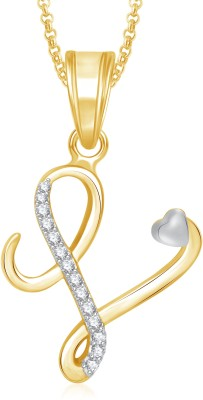 Meenaz Gold Plated  A  Letter Pendant Locket Alphabet Heart With ... ae15e45a06edf