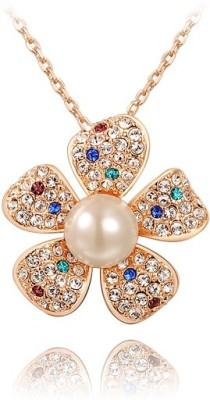 Carina Rose Gold Swarovski Crystal Alloy Pendant