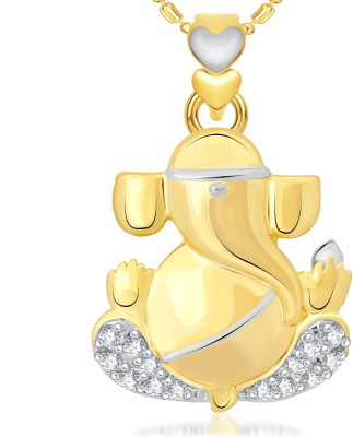 VK Jewels Buddhividhata 18K Yellow Gold Cubic Zirconia Alloy Pendant