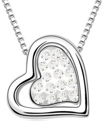 Silver Shoppee Valentine Special Rhodium Cubic Zirconia Alloy Pendant