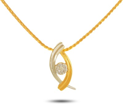 P.N.Gadgil Jewellers Trapped Flower 18kt Diamond Yellow Gold Pendant(Yellow Gold Plated) at flipkart