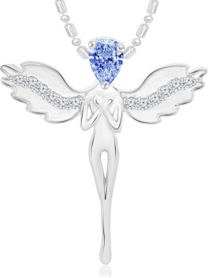 VShine Crystal Angel Rhodium Swarovski Zirconia Alloy Pendant at flipkart