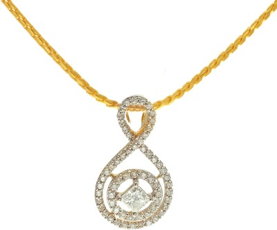 P.N.Gadgil Jewellers Suave 18kt Diamond Yellow Gold Pendant(Yellow Gold Plated) at flipkart