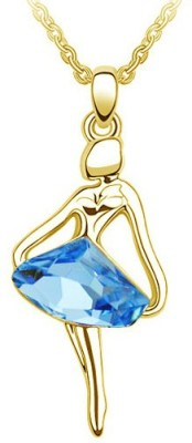 Silver Shoppee Gorgeous 18K Yellow Gold Crystal Alloy Pendant