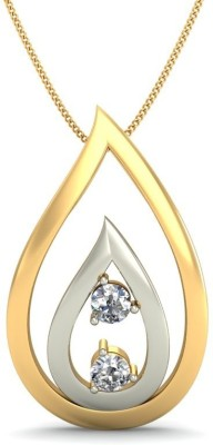 JewelsNext Love Forever 18kt Diamond Yellow Gold Pendant JewelsNext Precious Jewellery