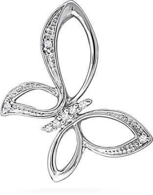 JPearls Butterfly 18kt Diamond White Gold Pendant