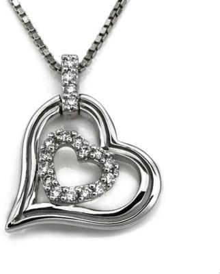 Voylla Semi pricious Love Plain Sterling Silver Pendant