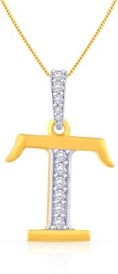 Malabar Gold and Diamonds PDEMALYA0020 22kt Cubic Zirconia Yellow Gold Pendant