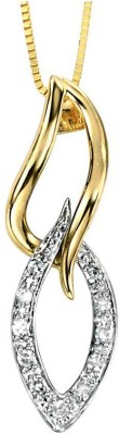 Kataria Jewellers Designer White Gold plated Diamond Sterling Silver Pendant