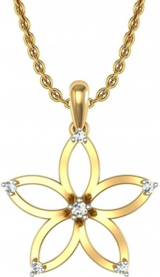 avsar Panaji 18kt Diamond Yellow Gold Pendant avsar Pendants   Lockets