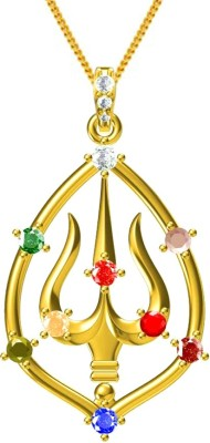 Exxotic Jewelz 24K Yellow Gold Ruby, Pearl, Coral, Emerald, Sapphire, Diamond, Cat