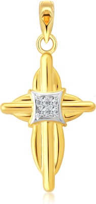 Vighnaharta Lord Prince 18K Yellow Gold Cubic Zirconia Alloy Pendant
