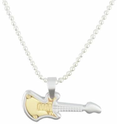 Alpha Man Engraved Guitar Beats Gold-plated Stainless Steel Pendant at flipkart