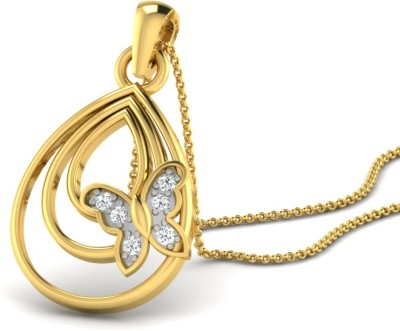His & Her Beautiful 9kt Diamond Yellow Gold Pendant(Yellow Gold Plated) at flipkart