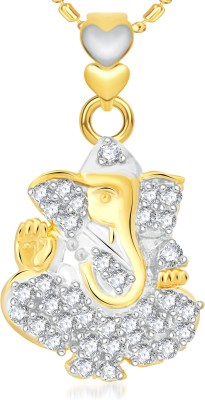 VK Jewels Bal Ganesh Yellow Gold Alloy Pendant