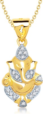 WearYourFashion Austrian Bow Knot Gold-plated Crystal Alloy Pendant