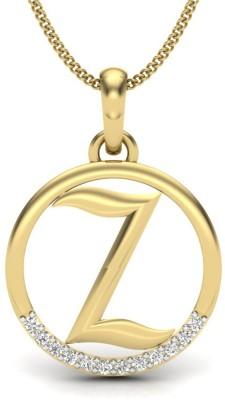 JewelHub 18kt Yellow Gold Pendant at flipkart