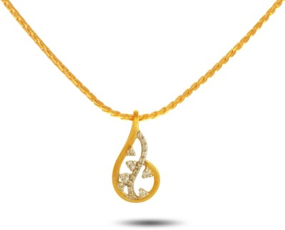 P.N.Gadgil Jewellers Retro Urbane 18kt Diamond Yellow Gold Pendant(Yellow Gold Plated) at flipkart