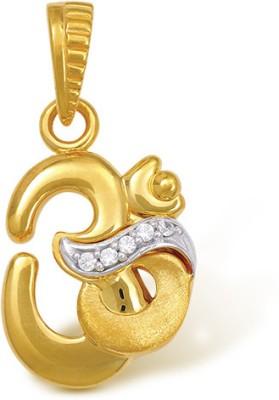Nishtaa 22K BIS Hallmarked Cubic Zirconia Yellow Gold Pendant