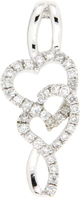 Sarvada Jewels 18K White Gold Diamond White Gold Pendant