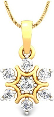 Samaira Gem and Jewelery Cluster 14kt Swarovski Zirconia Yellow Gold Pendant Samaira Gem and Jewelery Pendants   Lockets