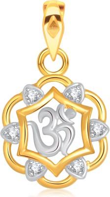 VK Jewels Siddhidhata 18K Yellow Gold Cubic Zirconia Alloy Pendant